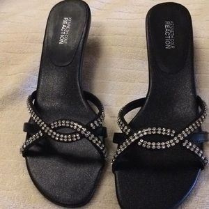 New Kenneth Cole Black with Rhinestones Shoes 10